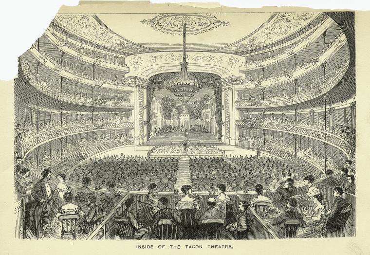 Tacon Teater Inside Samuel Hazard Cuba with pen and pencil NYPL