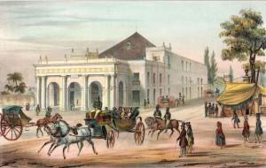 Teatro de Tacon 1839-42. Federico Mialhe.
