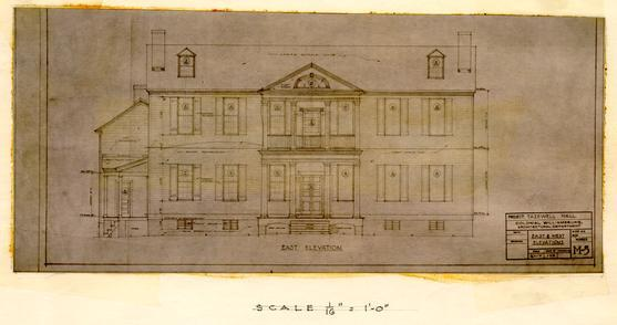 Tazewell Hall elevation