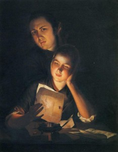 a-girl-reading-a-letter-by-candlelight-with-a-young-man-peering-over-her-shoulder-1762