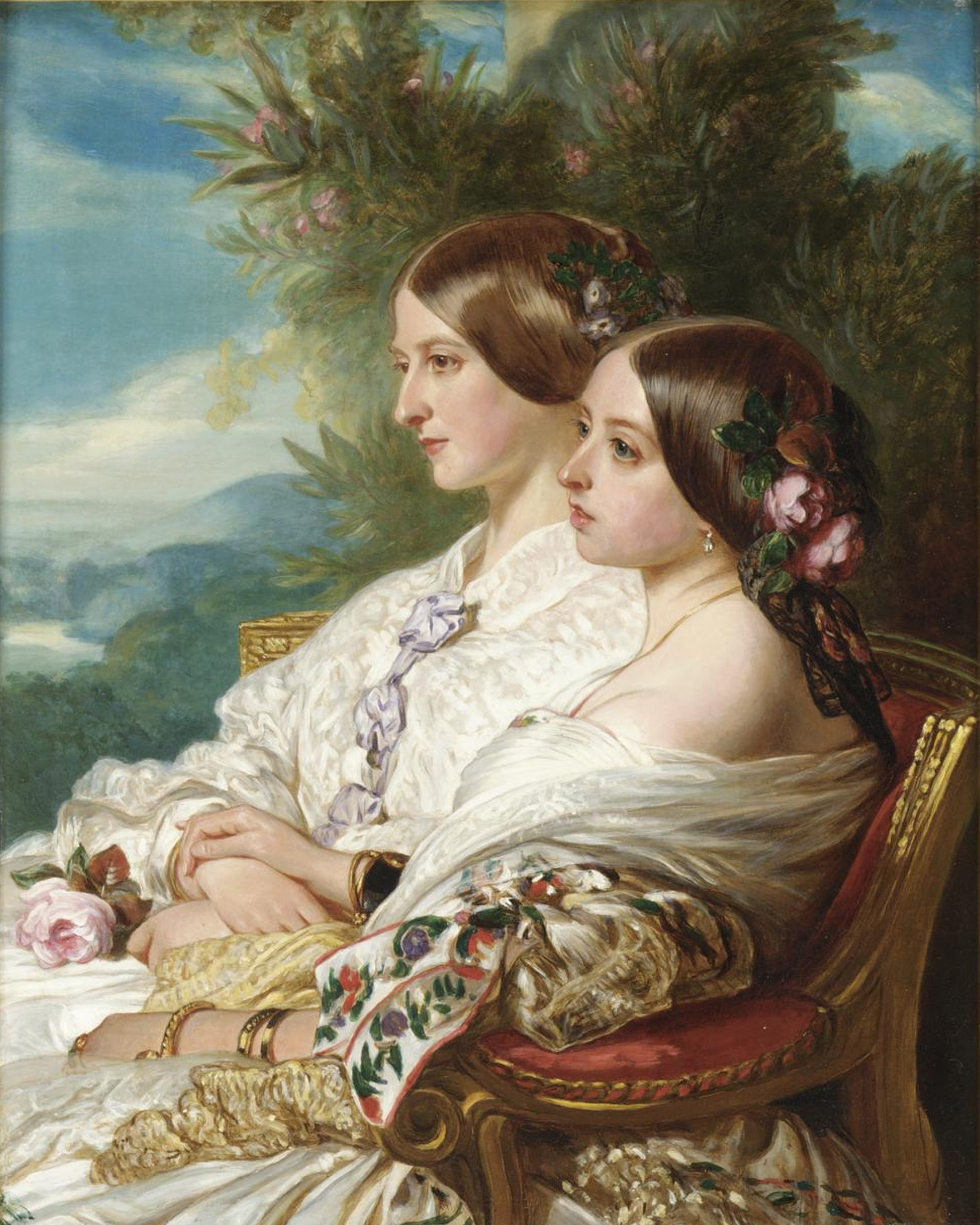 Victoria_and_her_cousin,_1852