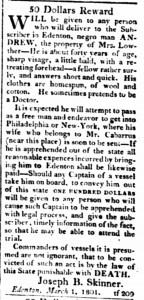 1801 Runaway Lowther Skinner